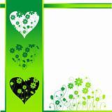 Valentine card, retro style, floral background
