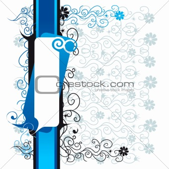 Abstract floral background, lace, frame with place for your text