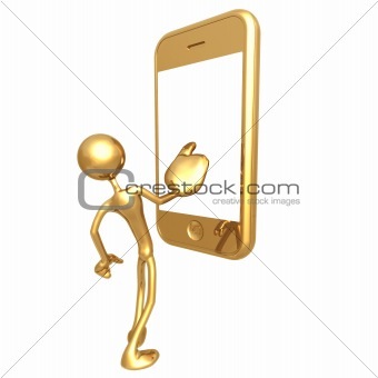 First Contact With Touch Screen Cell Phone