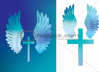 cross and wings colour