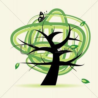 Old tree illustration for your design