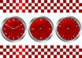 Red watches and chronographs