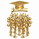 Gold Guy Graduate Concept