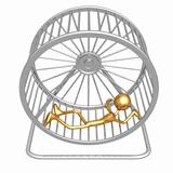 Collapsed Hamster Wheel Runner