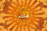Halloween pumpkin with ornament