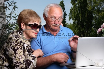 Adorable elderly couple