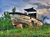Old river boat