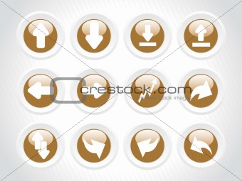 vector web 2.0 style shiny icons, rounded series set 12