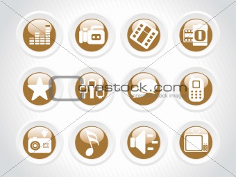 abstract background with icons