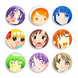Anime girls badges
