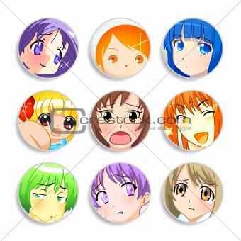 Anime girls badges
