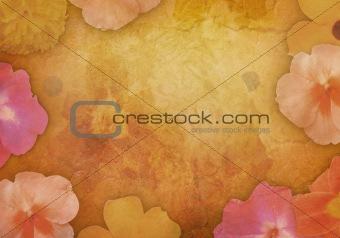Antique Vintage Flower Background