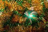 Christmas bauble on garland