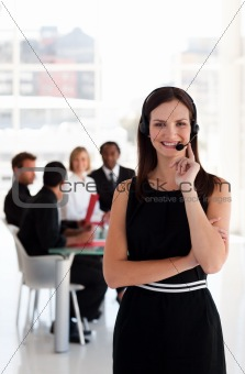 A friendly telephone operator