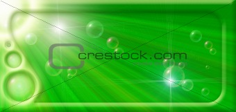 Abstract background with rays and bubbles