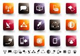 Communication Icon Set | Warm High Gloss