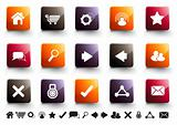 Internet Icon Set | Warm High Gloss