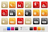 Document and File formats icons box series
