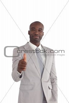 Confident Business man Standing