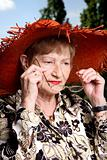 Adorable senior woman