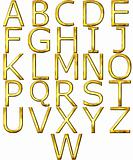 3D Golden Alphabet