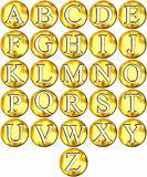 3D Golden Framed Alphabet