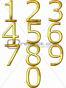 3D Golden Numbers