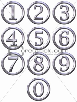 3D Silver Framed Numbers