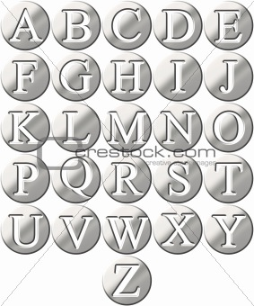 3D Steel Framed Alphabet