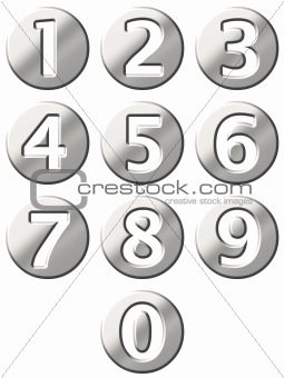 3D Steel Framed Numbers
