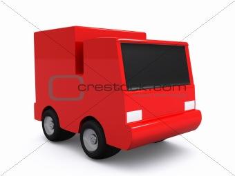 single red car. 3D