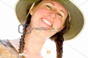 Backlit Smiling Woman
