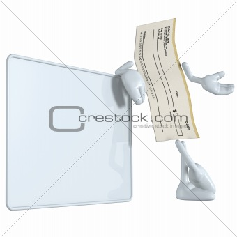 Blank Check With Sign