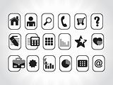 vector web icons in black