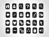 vector white web icons series