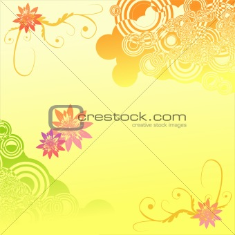 Abstract beauty letter background