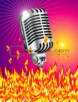 Flaming microphone