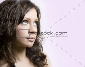 Beautiful fresh brunette