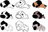 puppy icons collection set