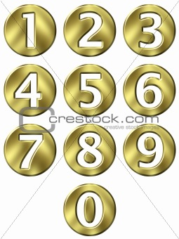 3D Golden Framed Numbers