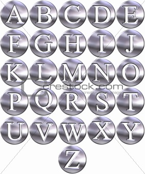 3D Silver Framed Alphabet