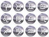 3D Silver Zodiac Signs