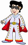 Cartoon Elvis impersonator