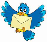 Cute bird with envelope
