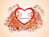 valentine background with swirl illustration