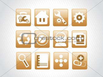 vector web 2.0 style shiny icons, squire series set 5