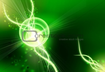 An abstract background is in green-black tones Abstract backgrou