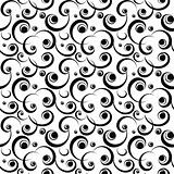 black scroll pattern