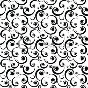 black scroll pattern