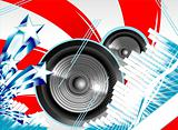 Abstract Us flag for music background